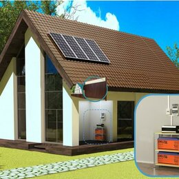 Солнечные батареи - Солнечная электростанция Автономный 600, 0