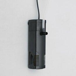 Инвентарь для обслуживания аквариумов - Фильтр BARBUS внутренний FILTER 022 КРИСТАЛ, (300 L/H) 3W, для акв. 10-50 л, 0