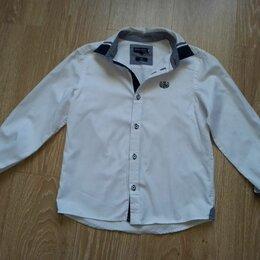Рубашки - Рубашка белая для мальчика с длинным рукавом, 0