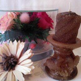 Декоративные свечи - Свеча Свадебная - Кофейная, 0