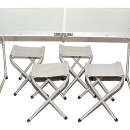 Походная мебель - Стол Туристический CONDOR р-р:60*70*120 + 4 стула, 0