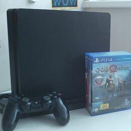 Игровые приставки - Sony PlayStation 4 slim 1tb + 4 игры, 0