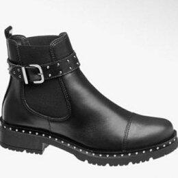 Ботинки - Ботинки кожаные Челси женские, 0