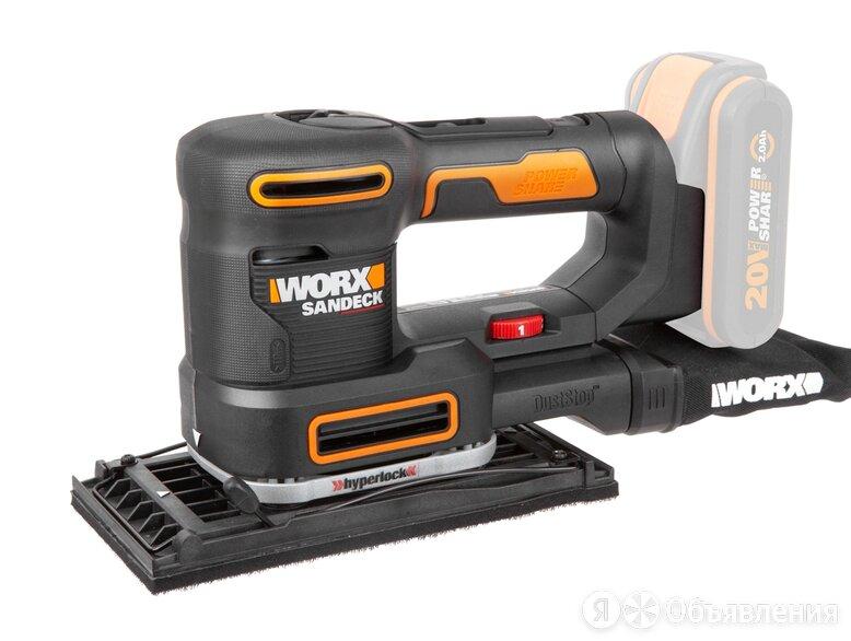 Виброшлифмашина аккумуляторная Worx WX820.9 без АКБ и ЗУ по цене 9290₽ - Шлифовальные машины, фото 0