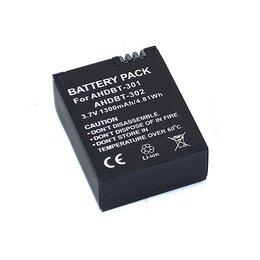 Аксессуары для экшн-камер - Аккумуляторная батарея для видеокамеры GoPro Hero 3 (AHDBT-301) 3,7V 1300mAh ..., 0