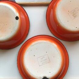 Миски и дуршлаги - Эмалированная миска ссср 3 шт оранжевая, 0
