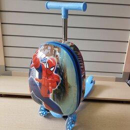 Чемоданы - Детский чемодан самокат для мальчика, 0