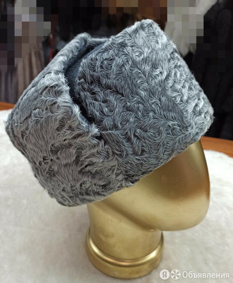 Ушанка серый каракуль. сукно 55 по цене 7300₽ - Головные уборы, фото 0