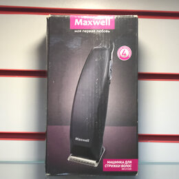 Машинки для стрижки и триммеры - Машинка для стрижки волос Maxwell me-2113bk, 0
