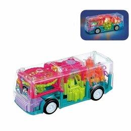 Машинки и техника - Прозрачный Автобус с шестеренками, 0
