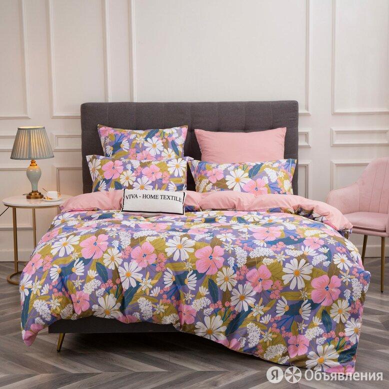 Комплект постельного белья Сатин Вышивка на резинке CNR102 по цене 2585₽ - Постельное белье, фото 0