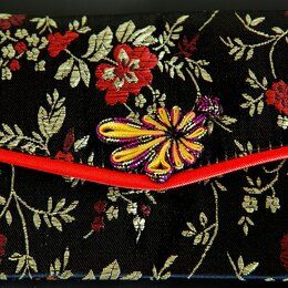 Кошельки - Кошелёк тканевый с вышивкой (Китай), 0