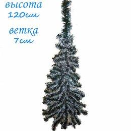 Ёлки искусственные - Искусственная елка зелёно-белая 120см 7см, 0