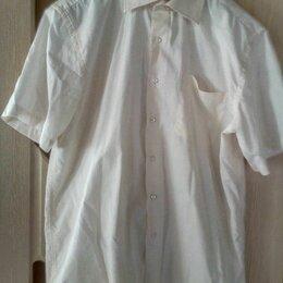 Рубашки - Мужская рубашка (бело-розовая) DMG, размер 46-48 (M), 0