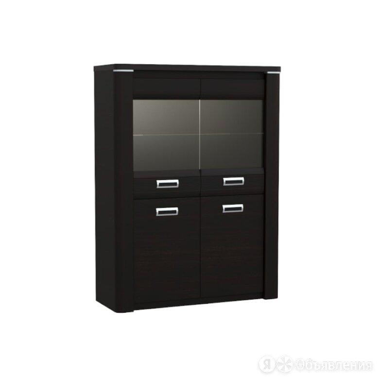 Пенал со стеклом низкий «Магнолия» «Магнолия» (дуб венге) по цене 29608₽ - Шкафы, стенки, гарнитуры, фото 0