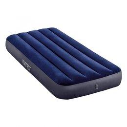 Надувная мебель - Надувной матрас велюровый синий 76х191х25, 0