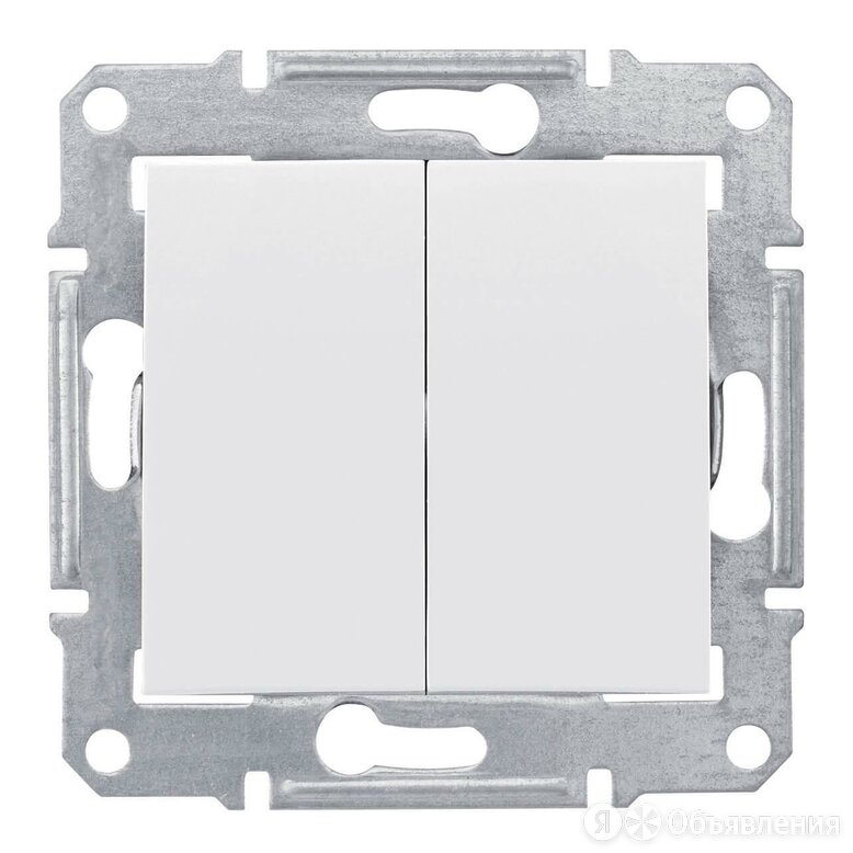 Выключатель двухклавишный Schneider Electric Sedna 10A 250V SDN0300121 по цене 556₽ - Электроустановочные изделия, фото 0
