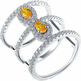 Кольца и перстни - Element47 кольцо серебро вес 5,8 вставка фианит арт. 743185, 0