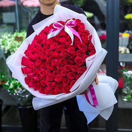 Цветы, букеты, композиции - 101 Роза Шангри Ла, 0