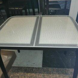 Столы и столики - Стол обеденный раскладной Массив и Стекло Пластик , 0