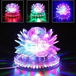 Интерьерная подсветка - Светодиодная вращающаяся диско лампа лотос, 0