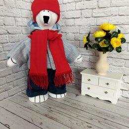 """Рукоделие, поделки и сопутствующие товары - Интерьерная текстильная кукла """"белый мишка"""" Ручная работа, 0"""