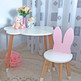 Столы и столики - Комплект - детский стульчик зайчик и столик облачко, 0
