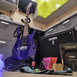 Электрогитары и бас-гитары - Электрогитара IBANEZ GRG170Dx + Boss KATANA 50 MK II (Комбоусилитель KTN MK2), 0