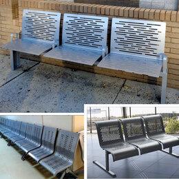 Мебель для учреждений - Скамейки металлические для залов ожидания, 0