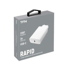 Защитные пленки и стекла - Сетевое зарядное устройство TFN PD 20Вт белый (TFN-WC09), 0