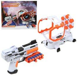 Игрушечное оружие и бластеры - Бластер с мишенью и мягкими патронами, свет, звук, арт.  ZYB-B2755, 0