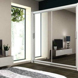 Шкафы, стенки, гарнитуры - Шкаф-купе двухдверный зеркальный ШЕРИЛ 2, 0