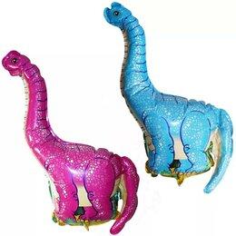 Краски - Шар фольга мини Flexmetal Динозавр 36х43см 1/5, 0