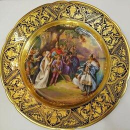 "Посуда - Антикварная тарелка ""Lohengrin"" Дрезден., 0"