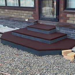 Фактурные декоративные покрытия - Резиновое покрытие, ремонт крыльца, 0