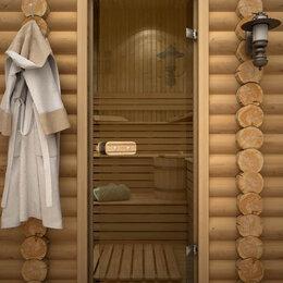 Двери - AQD Дверь для бани AQD 1890*690 бронза (коробка сосна экстра), 0