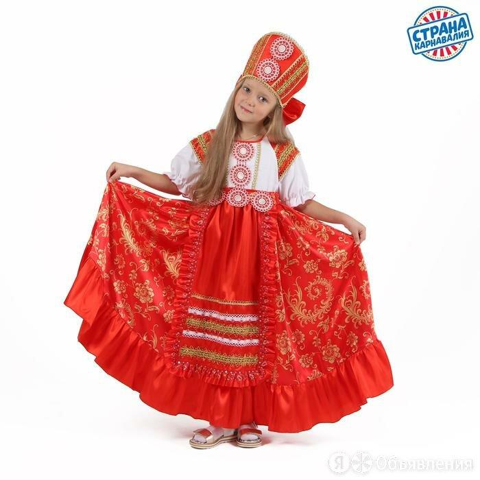 Карнавальный костюм 'Кадриль красная', платье, кокошник, р. 34, рост 134 см по цене 2841₽ - Карнавальные и театральные костюмы, фото 0