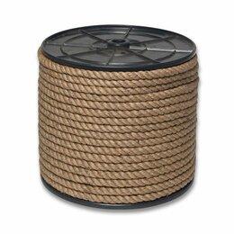 Веревки и шнуры - Веревка джутовая д 10 мм, 150м (катушка), 0
