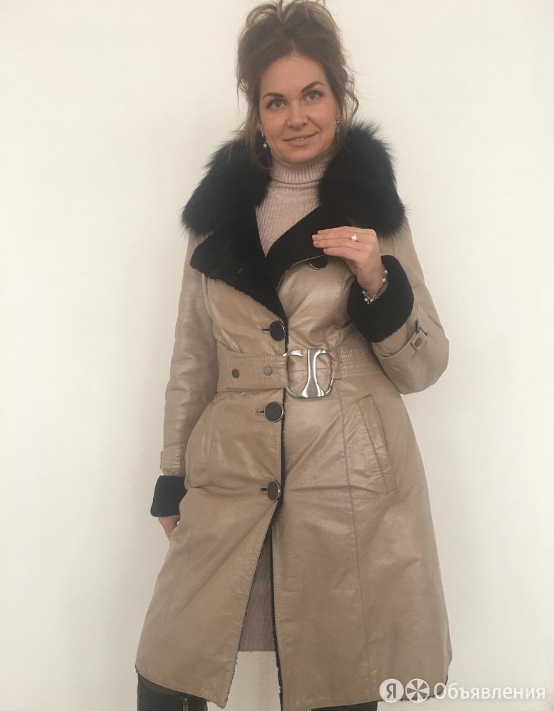 Пальто дубленка на овчине покрытие натуральная кожа р.44-46 /10846/ по цене 18500₽ - Пальто, фото 0