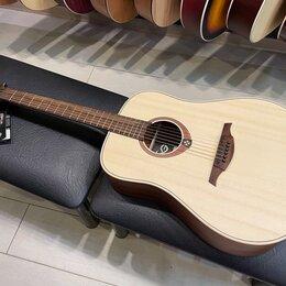 Акустические и классические гитары - Акустическая гитара LAG GLA T70D (массив ели), 0