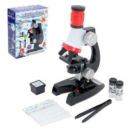 Детские микроскопы и телескопы - Микроскоп детский 'Исследуем окружающий мир', с подсветкой и аксессуарами, 0