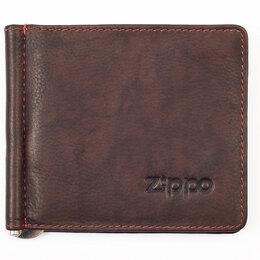 Обложки для документов - Портмоне с зажимом для денег ZIPPO 10,5*9 см., 0
