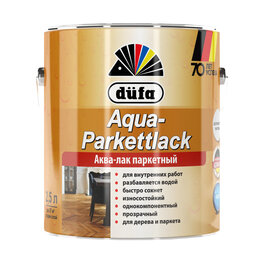 Масла и воск - Интерьерные лаки, масла DUFA Лак DUFA Aqua-Parkettlack паркетный шелковисто-м..., 0