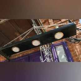 Люстры и потолочные светильники - Люстра из дерева в стиле лофт , 0