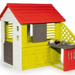 Игровые домики и палатки - Детский домик с кухней Smoby 810713 красный, 0