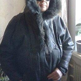 Куртки - Женская коженная утеплёная куртка капюшоном., 0