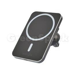 Зарядные устройства и адаптеры - Держатель VIXION W14 Magsafe с беспроводным зарядом 15W (черный), 0