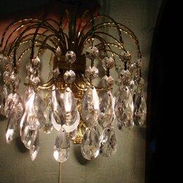 Бра и настенные светильники - Настенный светильник бра хрусталь Чехословакия, 0