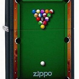 Пепельницы и зажигалки - Зажигалка Zippo 78201 Pool Table, 0