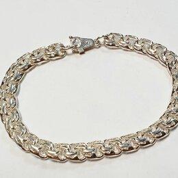 Браслеты - Новый браслет из серебра 925 27гр 20см , 0